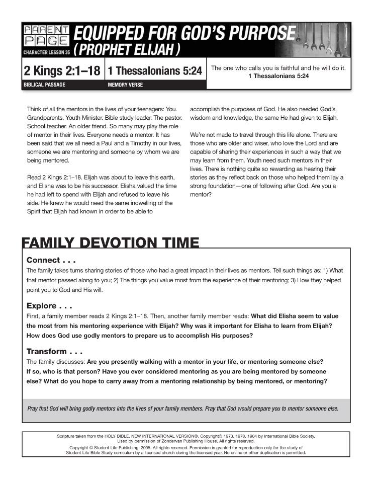 Lesson Devotional   Life Bible Study