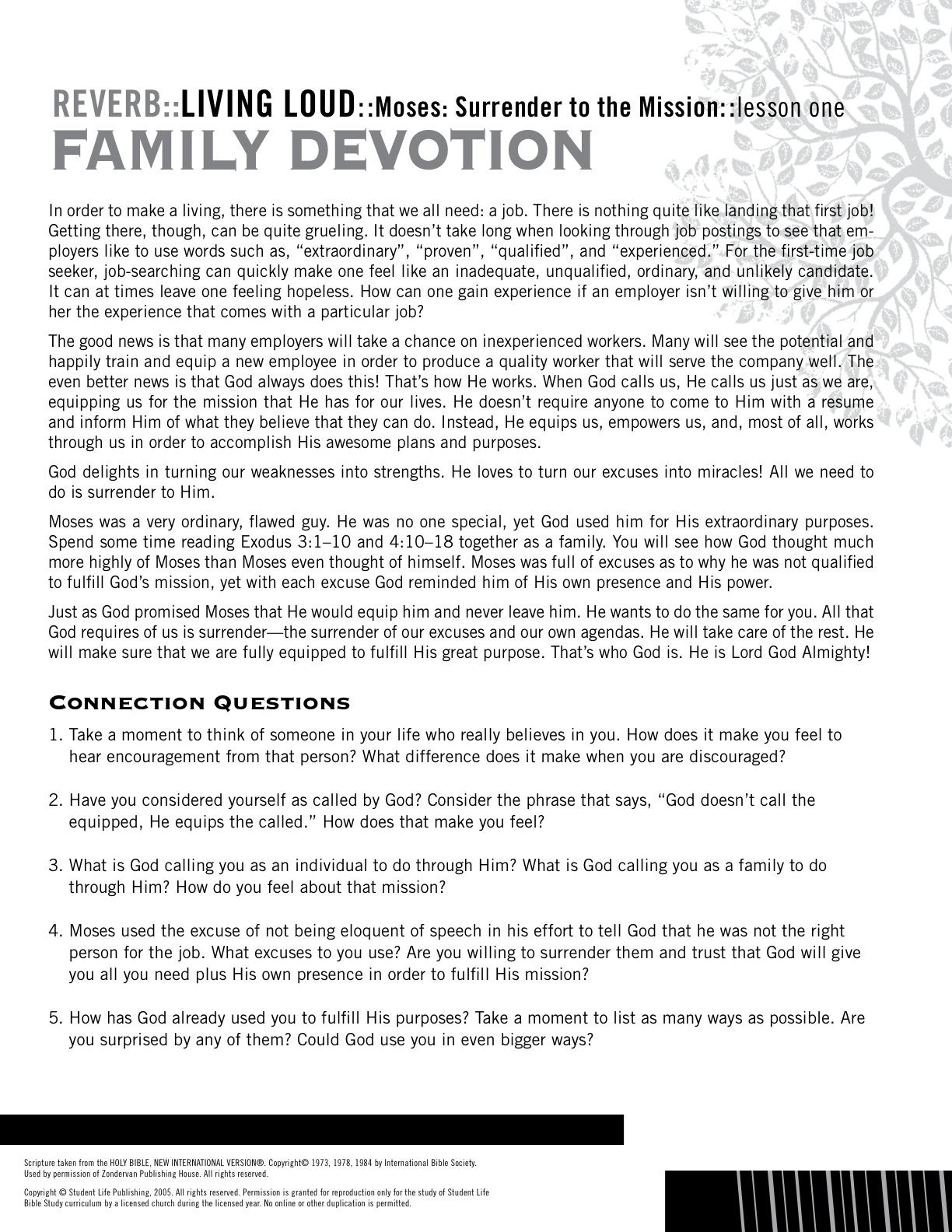 Lesson Devotional | Life Bible Study